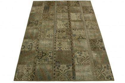 Patchwork Teppich Beige in 240x170cm