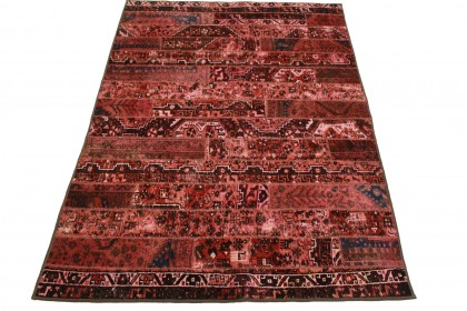 Patchwork Teppich Rot Rosa in 250x170cm