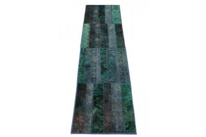 Patchwork Teppich Türkis in 300x80cm 1001-1311