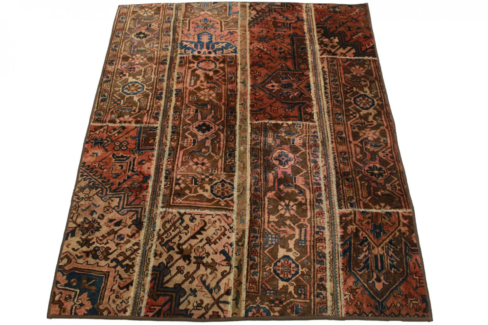 patchwork teppich braun rosa in 200x150cm 1001 1358 bei. Black Bedroom Furniture Sets. Home Design Ideas