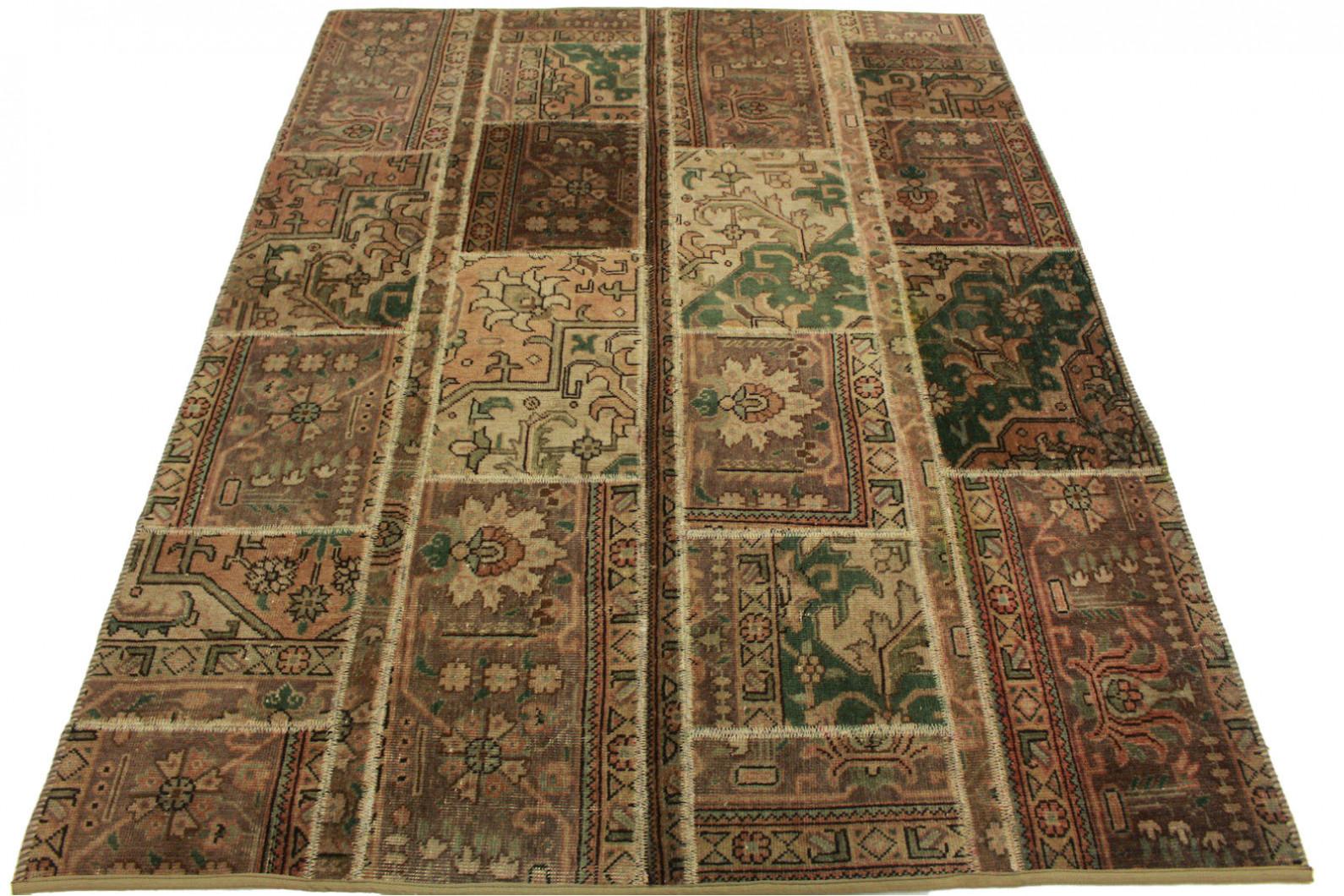 patchwork teppich braun beige in 200x150cm 1001 1368 bei. Black Bedroom Furniture Sets. Home Design Ideas
