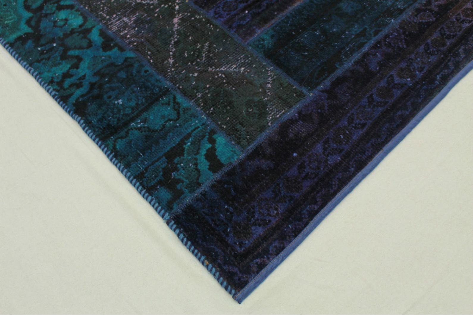patchwork teppich lila blau in 200x150cm 1001 1373 bei. Black Bedroom Furniture Sets. Home Design Ideas