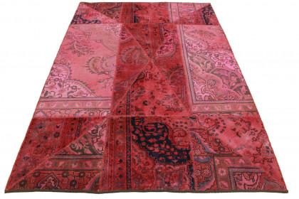 Patchwork Teppich Pink in 240x170cm