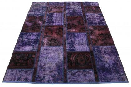 Patchwork Teppich Lila in 200x150cm