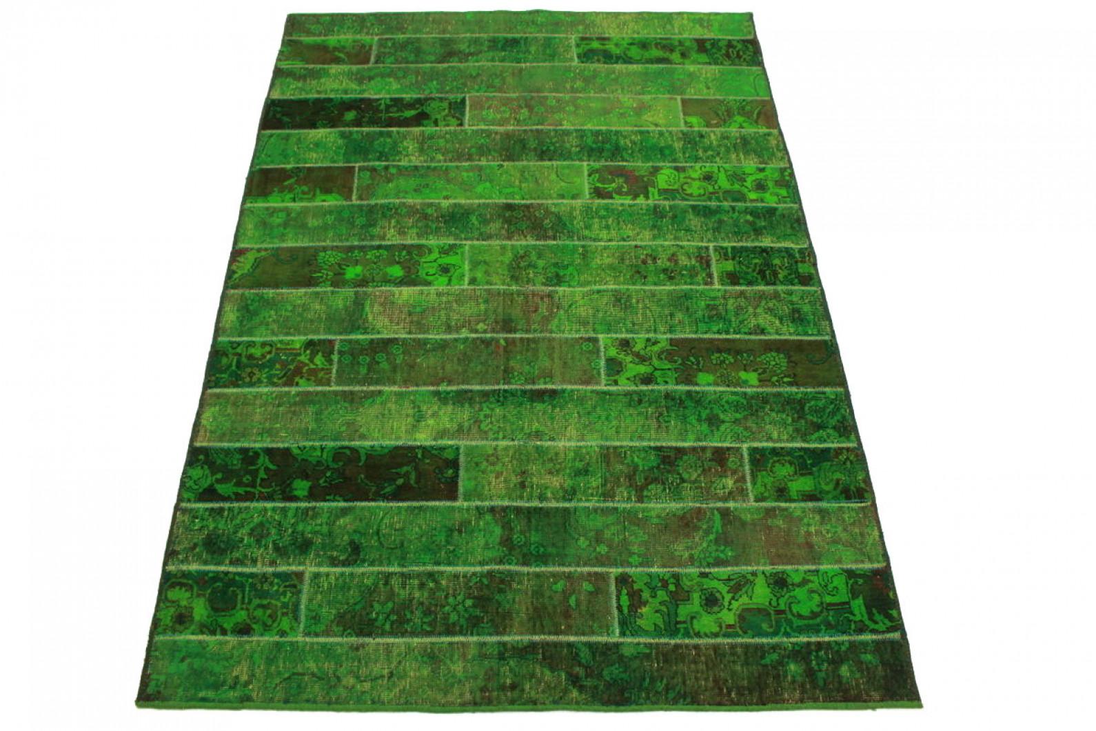 Patchwork Teppich Grun In 250x170cm 1001 1609 Bei Carpetido De Kaufen