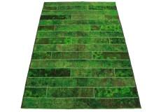 Patchwork Teppich Grün in 250x170cm