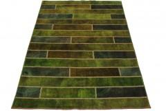 Patchwork Teppich Grün in 240x170cm