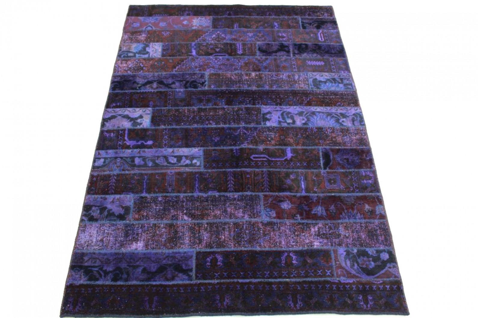 patchwork teppich lila in 250x170cm 1001 1615 bei. Black Bedroom Furniture Sets. Home Design Ideas