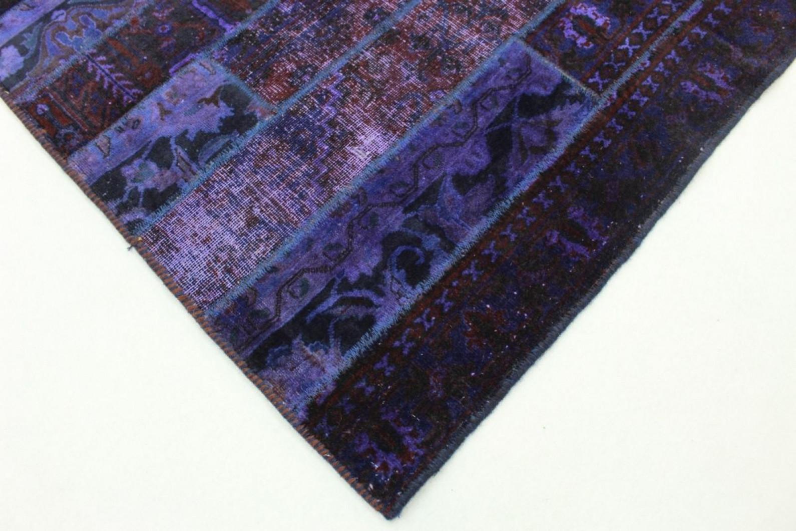 patchwork teppich lila in 250x170cm 1001 1615 bei kaufen. Black Bedroom Furniture Sets. Home Design Ideas