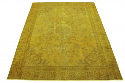 Vintage Teppich Gelb in 370x290
