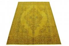 Vintage Teppich Gelb Gold in 290x200