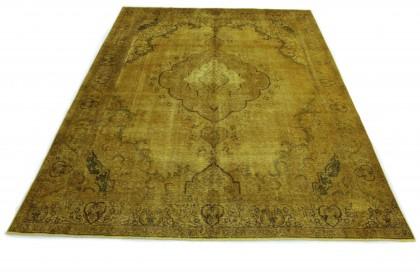 Vintage Teppich Gelb in 380x280