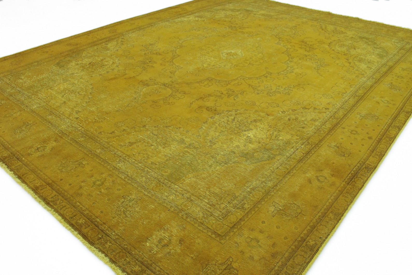 vintage teppich gelb gold in 390x290 1001 167010 bei. Black Bedroom Furniture Sets. Home Design Ideas