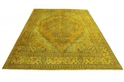 Vintage Teppich Gelb in 390x300