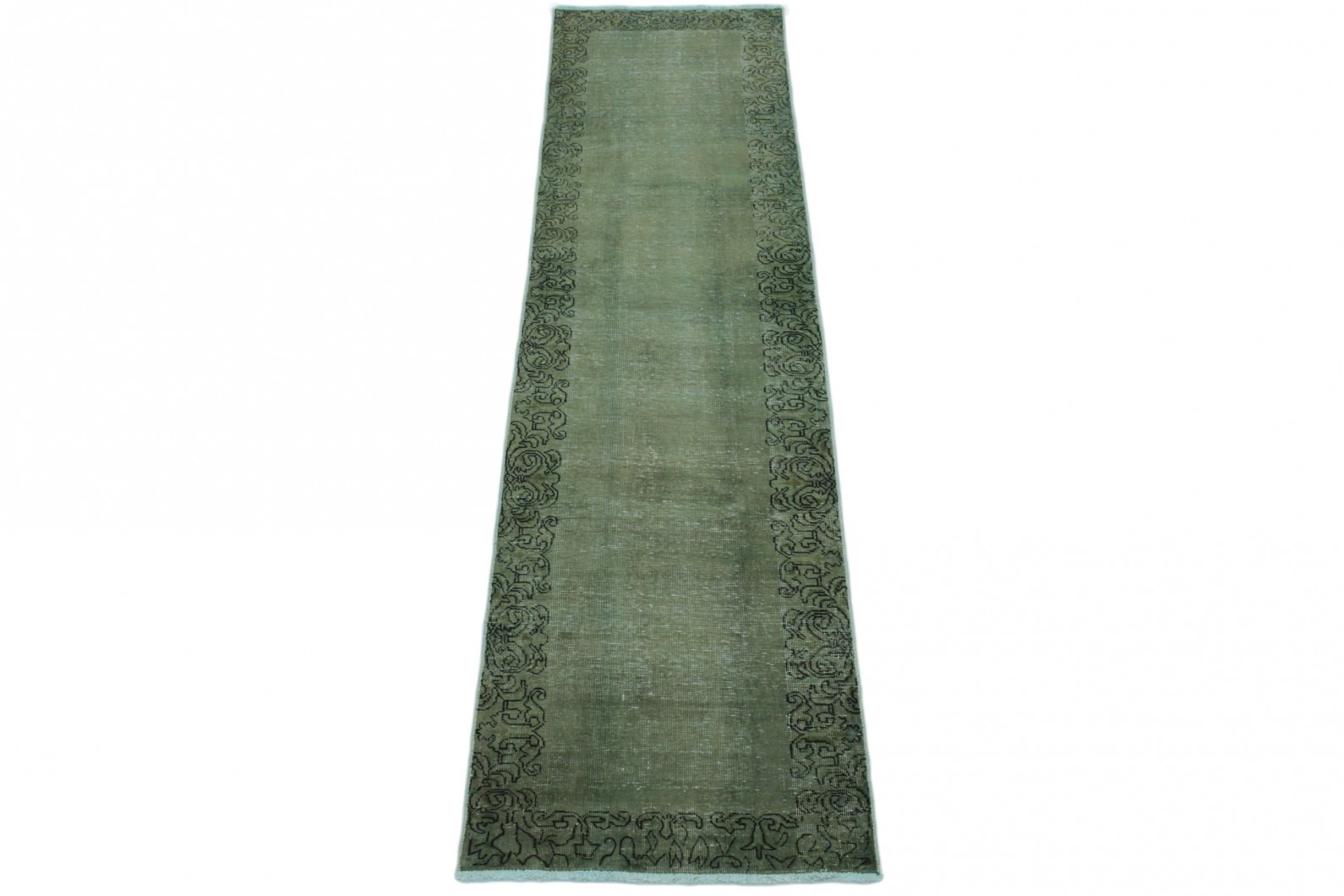 vintage teppich gr n in 340x80 1001 167025 bei carpetido. Black Bedroom Furniture Sets. Home Design Ideas