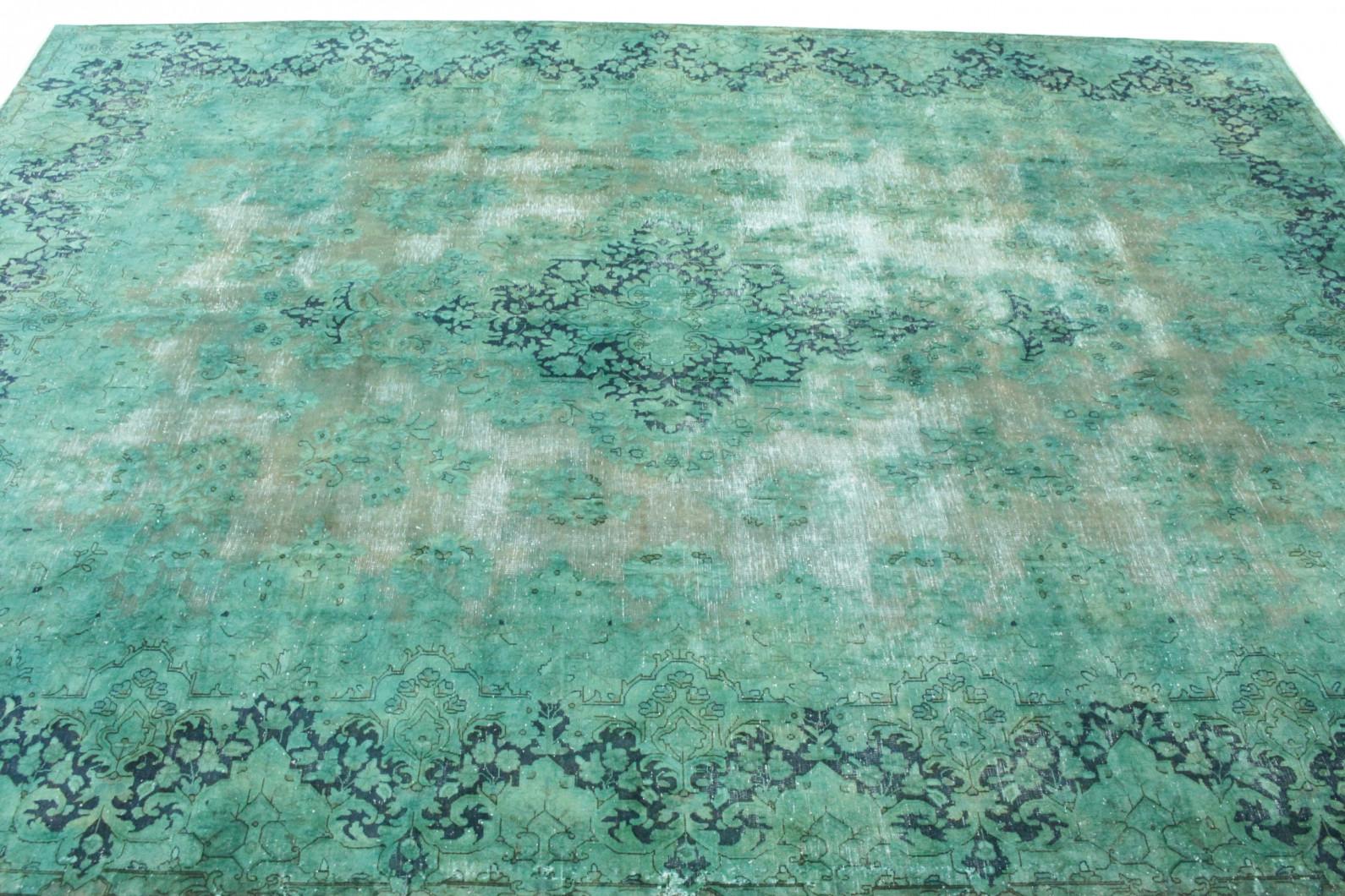 ... Vintage Teppich Grün Türkis In 410x300 (3/5) ...