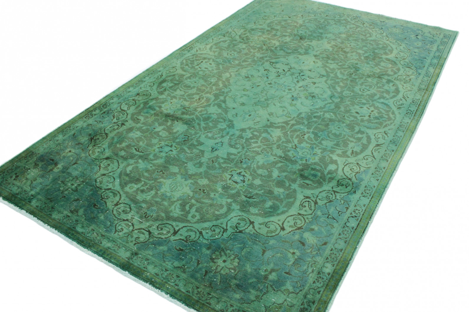 vintage teppich gr n in 280x150 1001 167029 bei kaufen. Black Bedroom Furniture Sets. Home Design Ideas