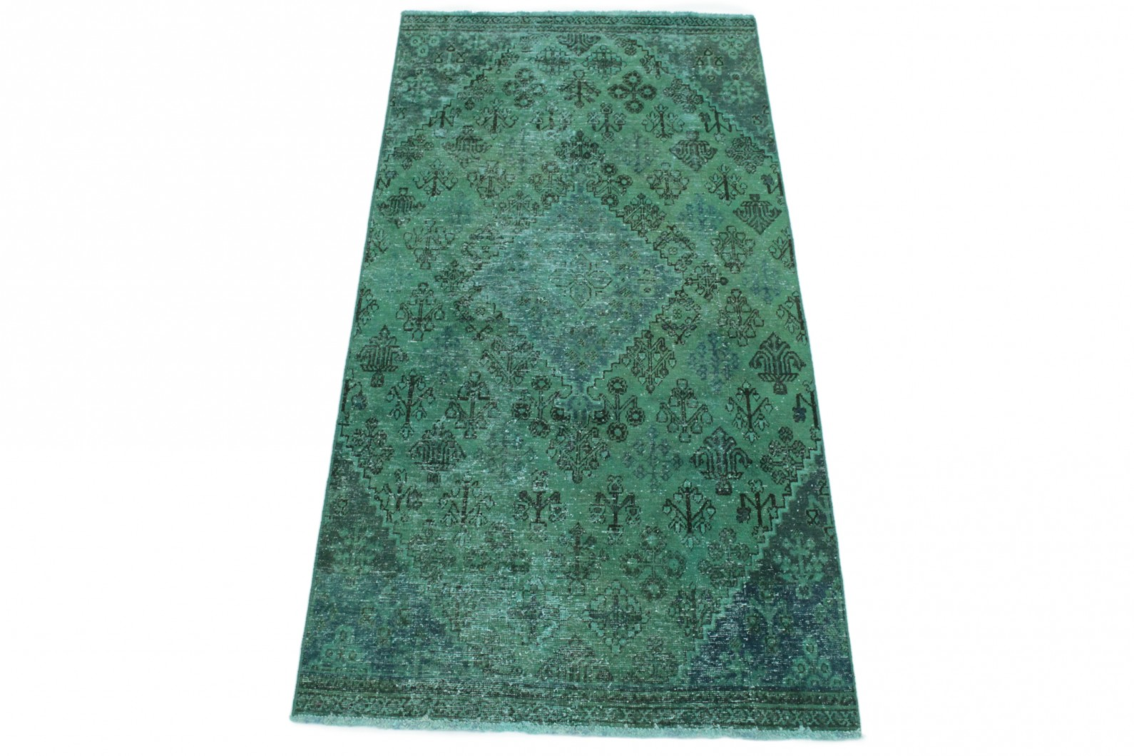 vintage teppich gr n in 250x120 1001 167036 bei kaufen. Black Bedroom Furniture Sets. Home Design Ideas