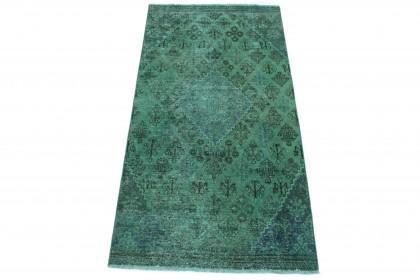 Vintage Teppich Grün in 250x120