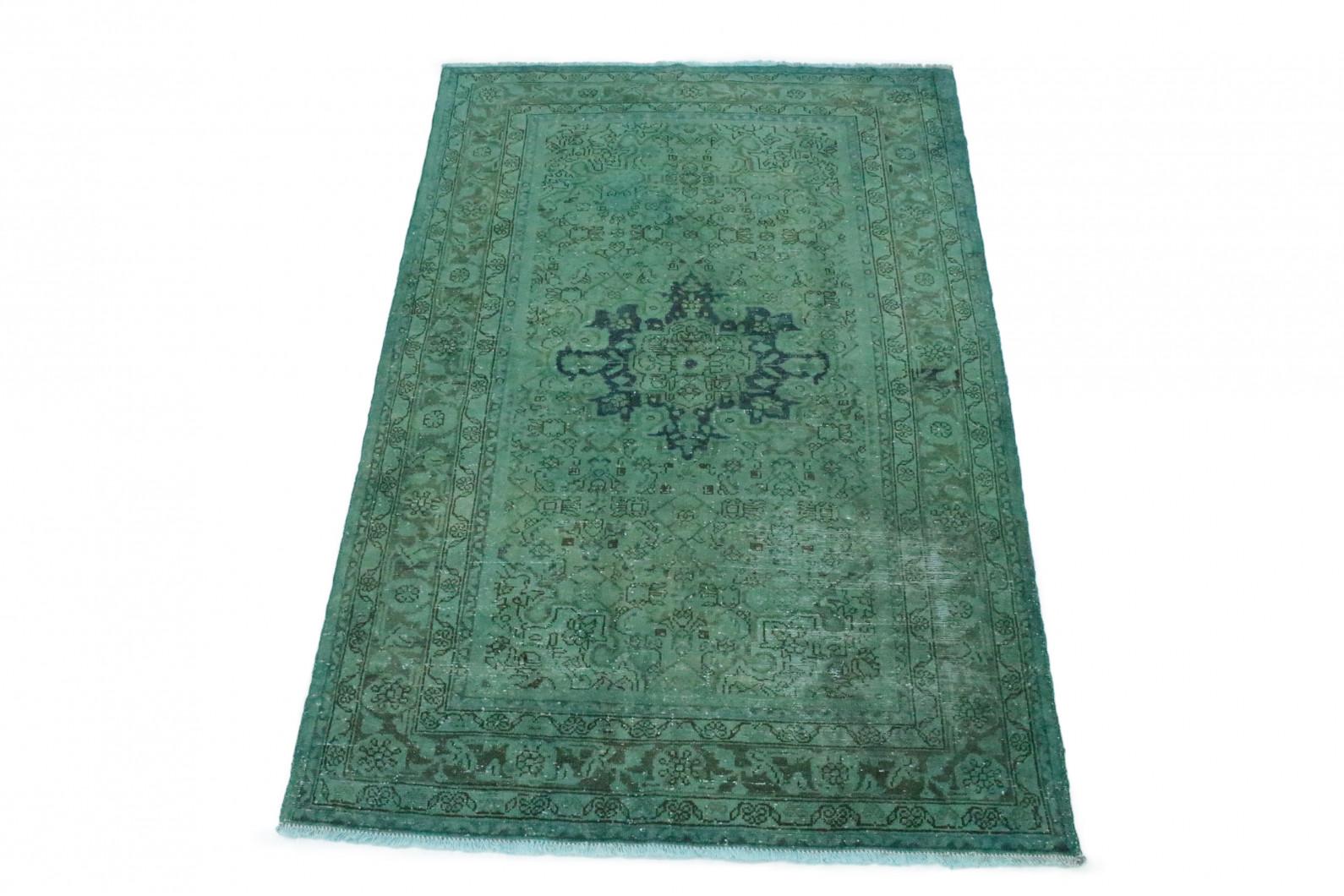 Vintage Teppich Grün in 220x140