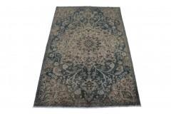 Vintage Teppich Blau Beige in 280x180