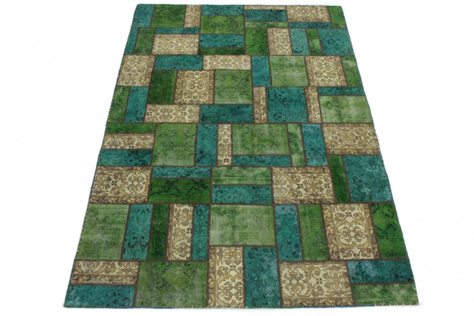 patchwork teppich beige t rkis gr n in 300x200 1001. Black Bedroom Furniture Sets. Home Design Ideas