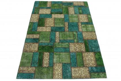 Patchwork Teppich Beige Türkis Grün in 300x200 1001-167062