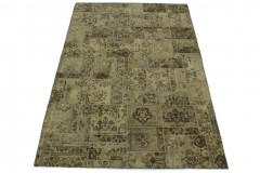 Patchwork Teppich Beige Sand in 300x200