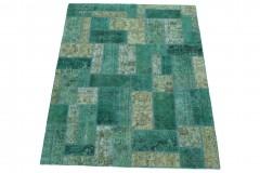Patchwork Teppich Grün in 200x150