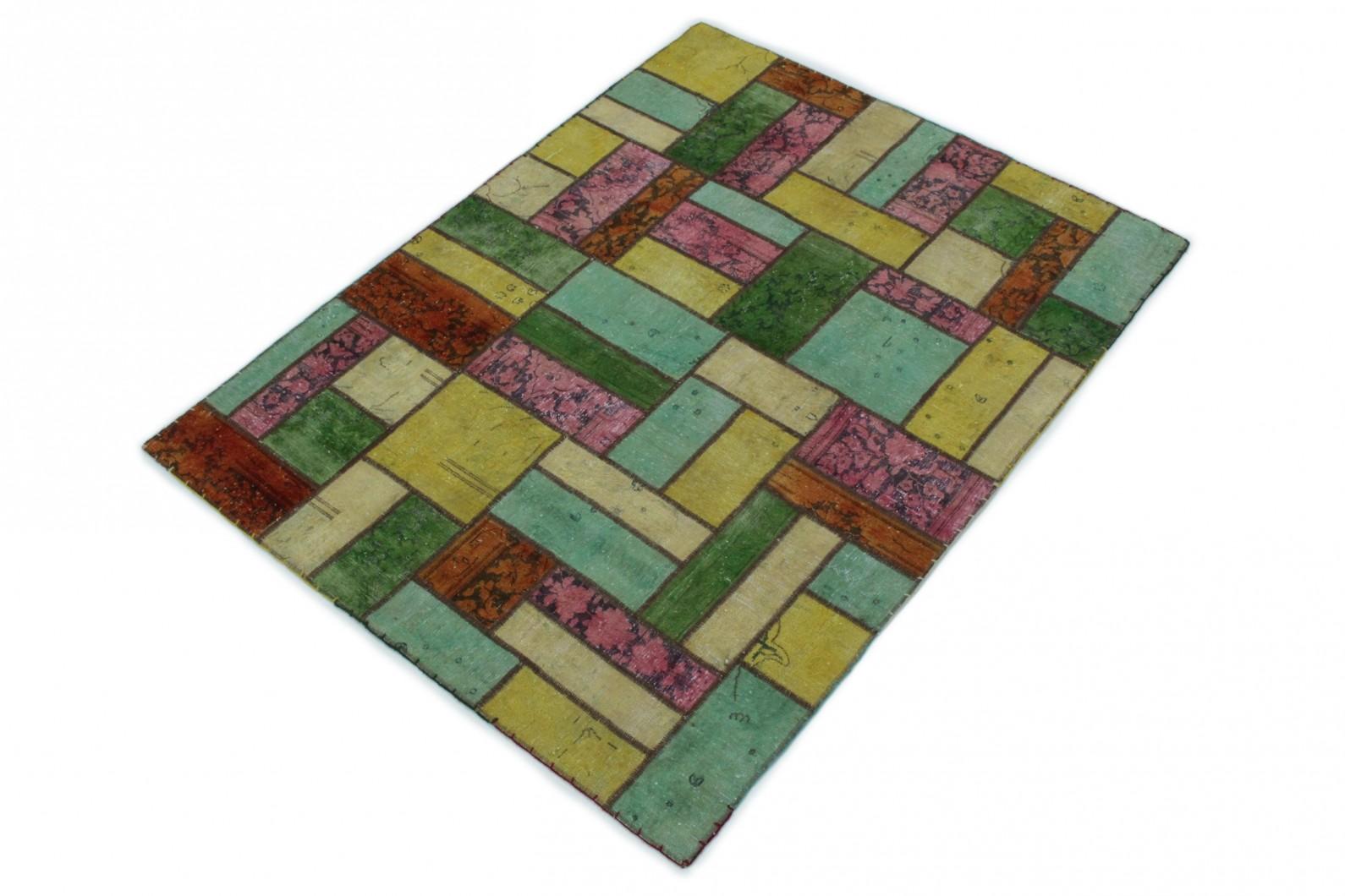 patchwork teppich beige t rkis pink in 200x150 1001 167072 bei kaufen. Black Bedroom Furniture Sets. Home Design Ideas