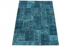 Patchwork Teppich Blau in 200x150