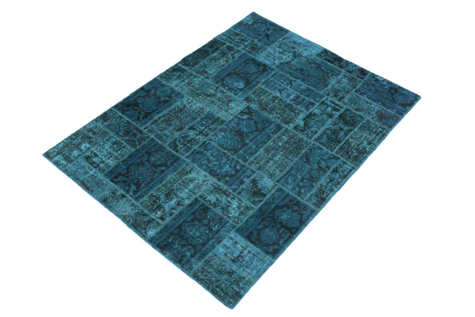 patchwork teppich blau in 200x150 1001 167074 bei. Black Bedroom Furniture Sets. Home Design Ideas