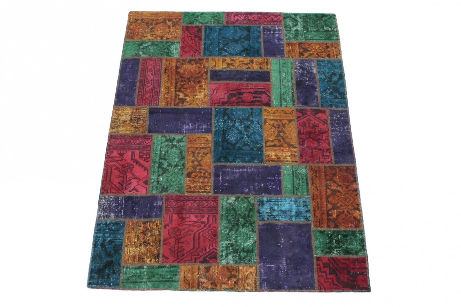 patchwork teppich lila gr n orange rot in 200x150 1001 167076 bei kaufen. Black Bedroom Furniture Sets. Home Design Ideas