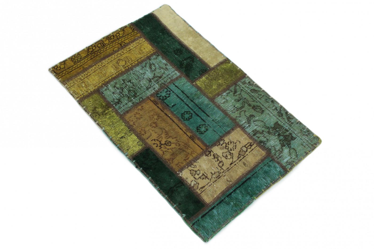 Patchwork teppich türkis beige in  bei