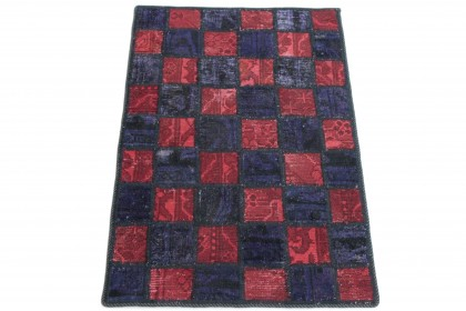Patchwork Teppich Lila Rot in 90x60 1001-167106