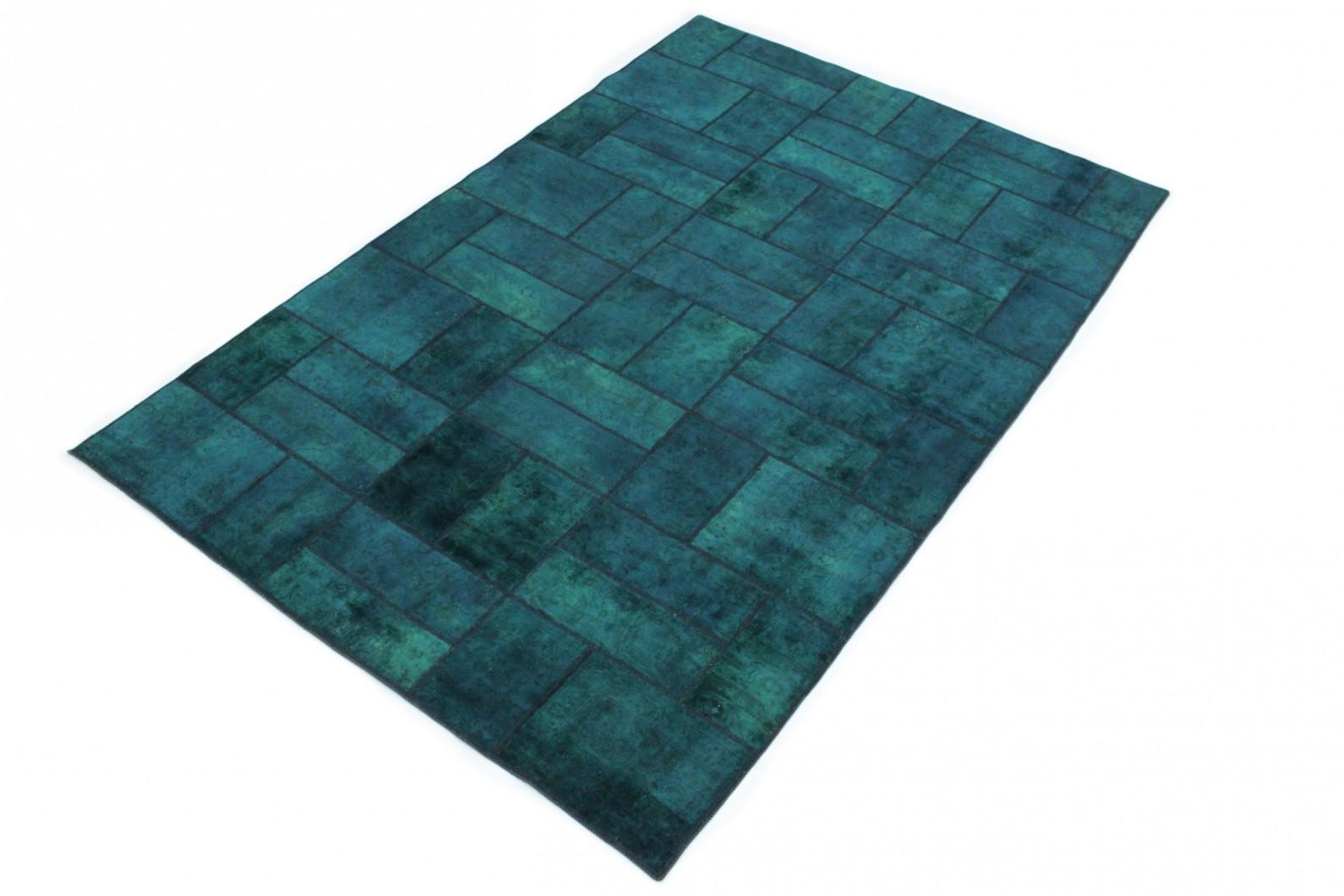 patchwork teppich blau t rkis in 310x200 1001 167109 bei. Black Bedroom Furniture Sets. Home Design Ideas