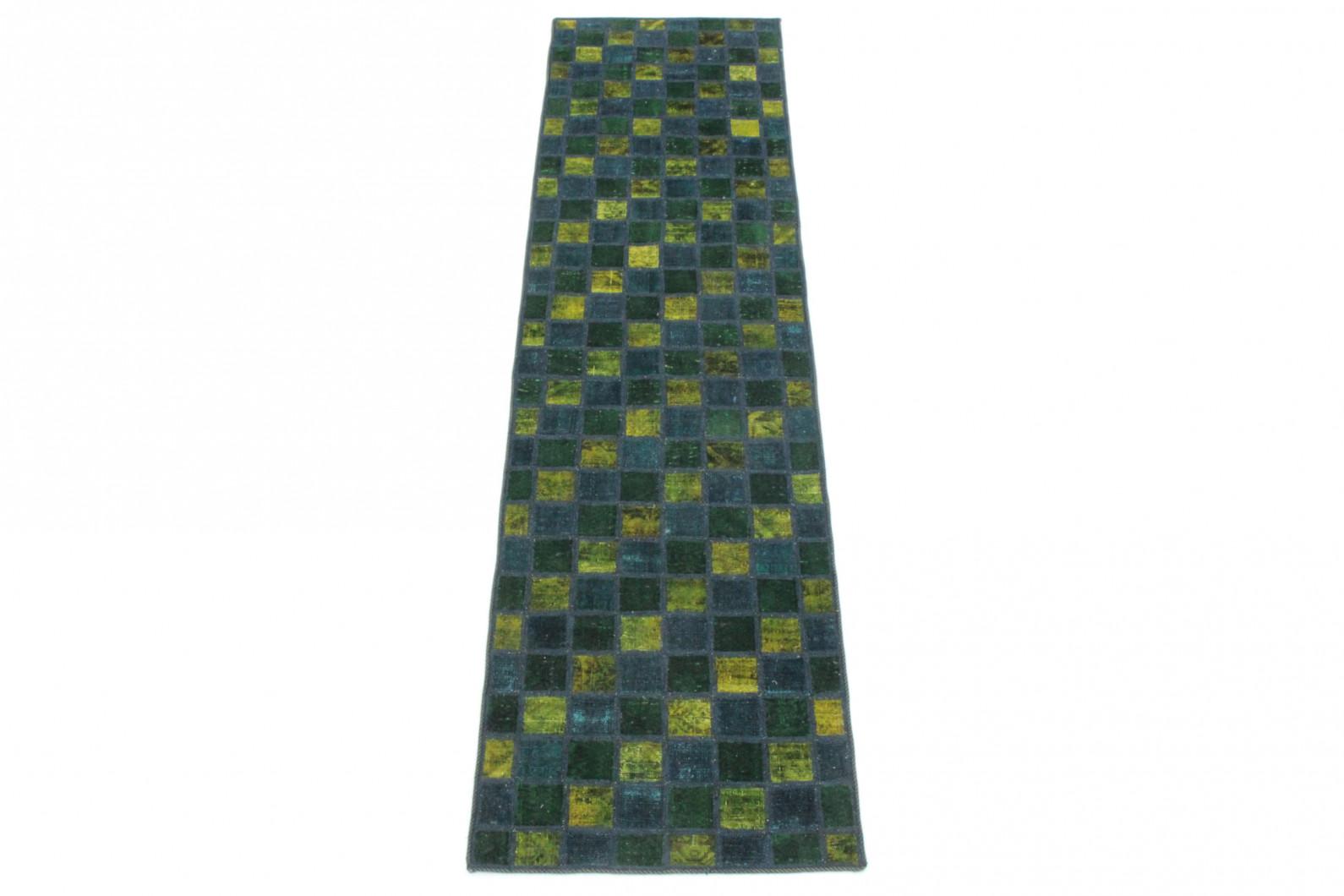 patchwork teppich l ufer gr n gelb t rkis in 310x80 1001. Black Bedroom Furniture Sets. Home Design Ideas