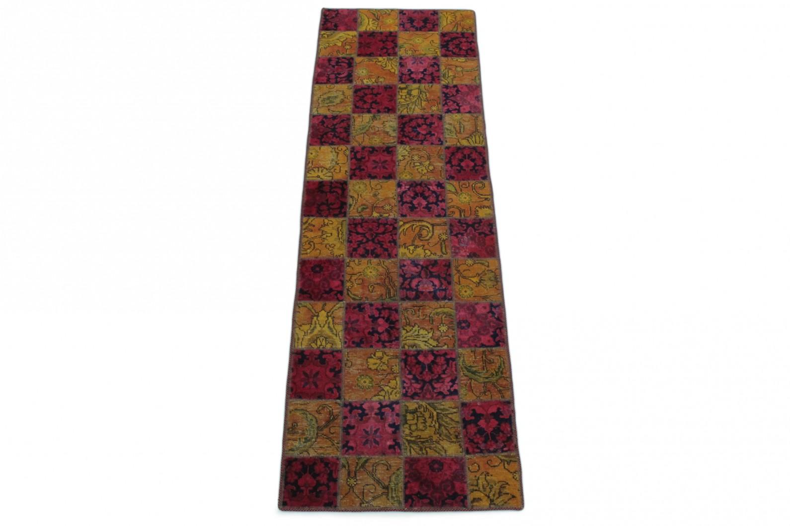 patchwork teppich l ufer orange pink in 260x80 1001. Black Bedroom Furniture Sets. Home Design Ideas
