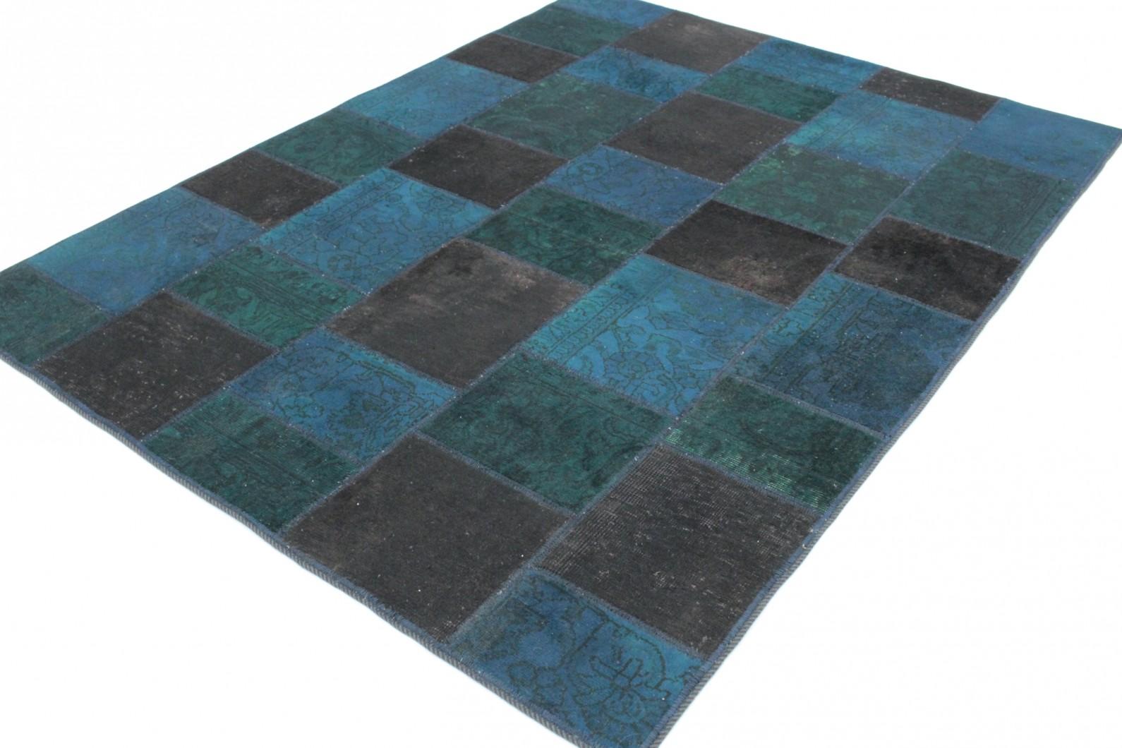 Teppich türkis braun  Patchwork Teppich Blau Türkis Braun in 200x150 (1001-167126) bei ...
