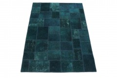 Patchwork Teppich Blau in 240x170