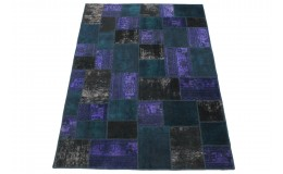 Patchwork Rug Purple Turquoise Mud in 240x170