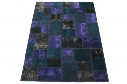 Patchwork Teppich Lila Türkis Schlamm in 240x170