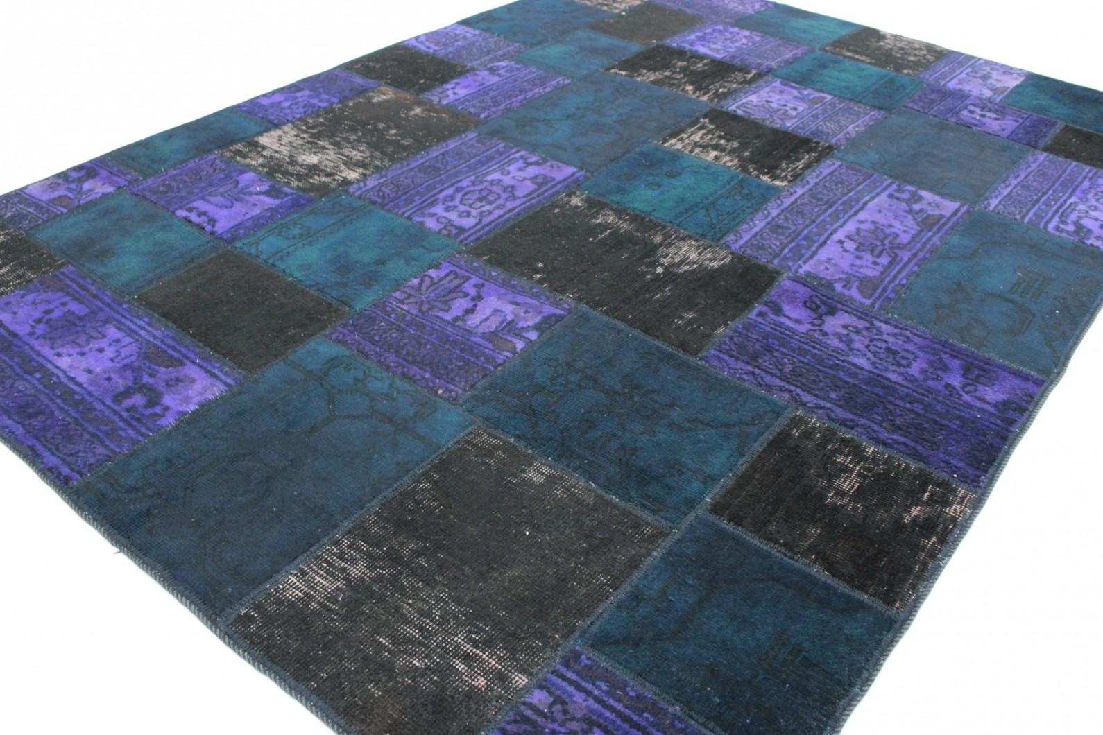 Patchwork Teppich Lila Türkis Schlamm in 240x170 (1001-167128) bei ...