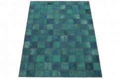 Patchwork Teppich Grün Türkis in 200x150