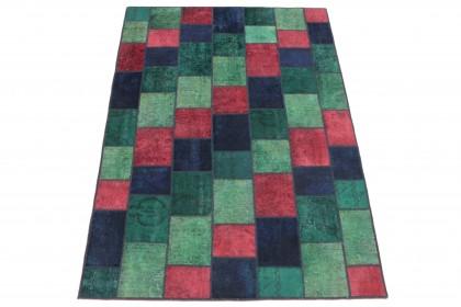 Patchwork Teppich Rot Grün Türkis Blau in 250x170 1001-167138