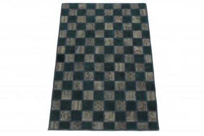 Patchwork Teppich Grün Braun in 150x100 1001-167146