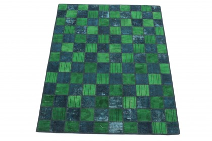 Patchwork Teppich Grün Türkis in 200x150 1001-167149