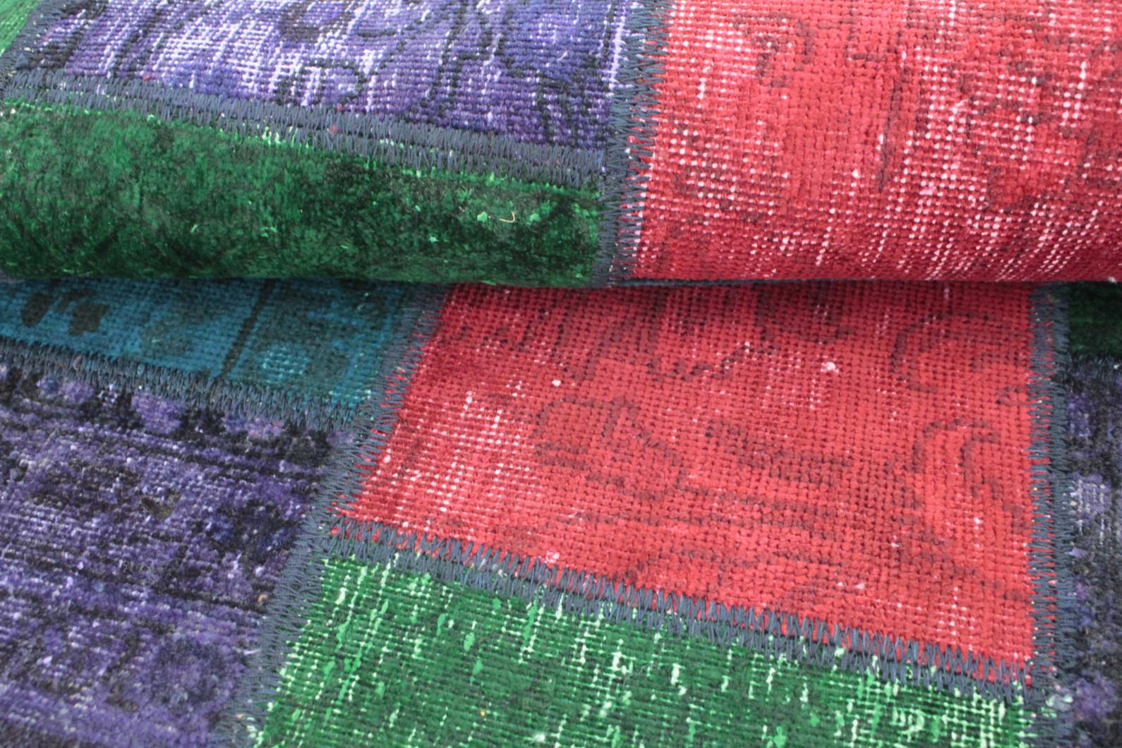 Patchwork Teppich Grün Türkis Lila Rot In 150x100 1001 167150 Bei