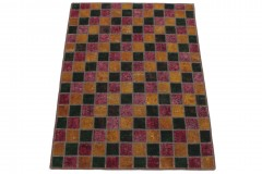 Patchwork Teppich Orange Rot Grün in 170x130