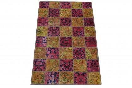 Patchwork Teppich Pink Orange in 160x100